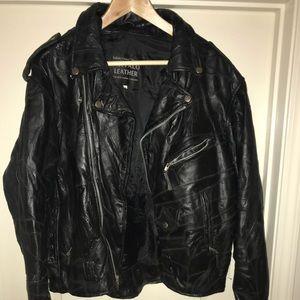 Genuine vintage Buffalo Leather Biker sz XXL